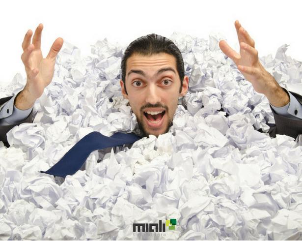 desperdício de papel